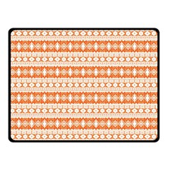 Fancy Tribal Border Pattern 17i Double Sided Fleece Blanket (small)  by MoreColorsinLife