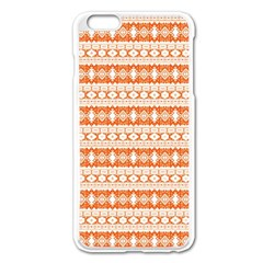 Fancy Tribal Border Pattern 17i Apple Iphone 6 Plus/6s Plus Enamel White Case by MoreColorsinLife