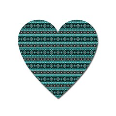 Fancy Tribal Border Pattern 17g Heart Magnet by MoreColorsinLife