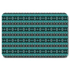 Fancy Tribal Border Pattern 17g Large Doormat  by MoreColorsinLife