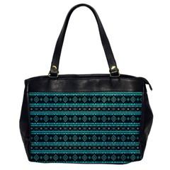 Fancy Tribal Border Pattern 17g Office Handbags by MoreColorsinLife
