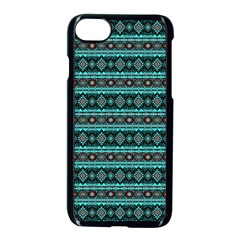 Fancy Tribal Border Pattern 17g Apple Iphone 7 Seamless Case (black) by MoreColorsinLife