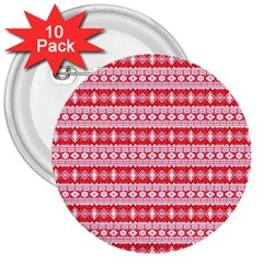 Fancy Tribal Border Pattern 17h 3  Buttons (10 Pack)  by MoreColorsinLife
