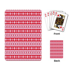 Fancy Tribal Border Pattern 17h Playing Card by MoreColorsinLife