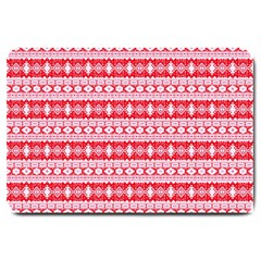 Fancy Tribal Border Pattern 17h Large Doormat  by MoreColorsinLife