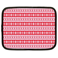 Fancy Tribal Border Pattern 17h Netbook Case (large) by MoreColorsinLife