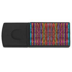 Star Fall In  Retro Peacock Colors Rectangular Usb Flash Drive by pepitasart