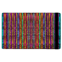 Star Fall In  Retro Peacock Colors Apple Ipad 3/4 Flip Case by pepitasart