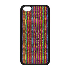 Star Fall In  Retro Peacock Colors Apple Iphone 5c Seamless Case (black) by pepitasart