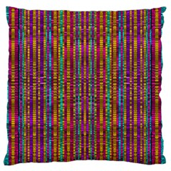 Star Fall In  Retro Peacock Colors Large Flano Cushion Case (two Sides) by pepitasart