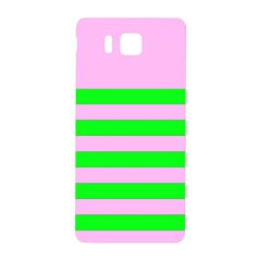 Pink And Green Stripesi Samsung Galaxy Alpha Hardshell Back Case by NSTP