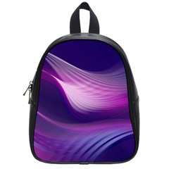 Abstract Purple School Bag (small) by AllOverIt