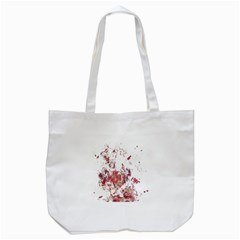 Abstrak Reds Tote Bag (white) by AllOverIt