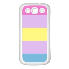 Apo Stripes Samsung Galaxy S3 Back Case (white) by AllOverIt