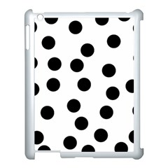 Black And White Spot Pattern Apple Ipad 3/4 Case (white) by AllOverIt