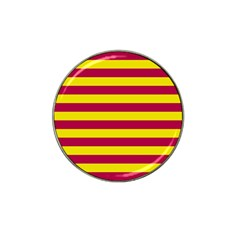 Red & Yellow Stripesi Hat Clip Ball Marker (10 Pack) by norastpatrick