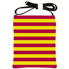 Red & Yellow Stripesi Shoulder Sling Bags by norastpatrick