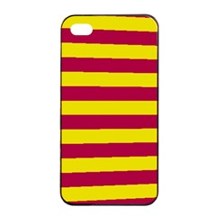 Red & Yellow Stripesi Apple Iphone 4/4s Seamless Case (black)