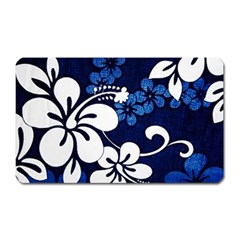 Blue Hibiscus Magnet (rectangular) by AllOverIt