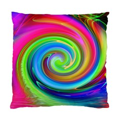 Rainbow Twist Standard Cushion Case (two Sides) by norastpatrick