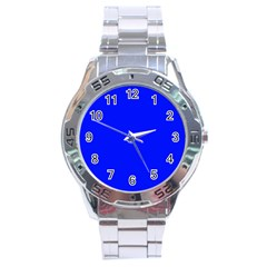 Blue! Blue! Blue! Stainless Steel Analogue Watch by norastpatrick