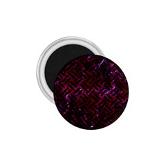 Woven2 Black Marble & Burgundy Marble (r) 1 75  Magnets by trendistuff