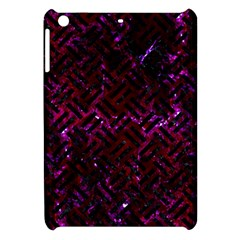 Woven2 Black Marble & Burgundy Marble (r) Apple Ipad Mini Hardshell Case by trendistuff