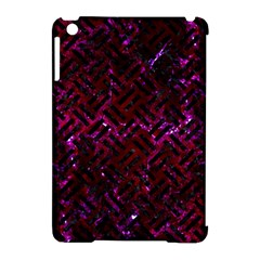 Woven2 Black Marble & Burgundy Marble (r) Apple Ipad Mini Hardshell Case (compatible With Smart Cover) by trendistuff