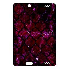 Tile1 Black Marble & Burgundy Marble (r) Amazon Kindle Fire Hd (2013) Hardshell Case by trendistuff