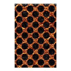 Circles2 Black Marble & Copper Foil (r) Shower Curtain 48  X 72  (small)  by trendistuff
