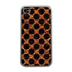 Circles2 Black Marble & Copper Foil (r) Apple Iphone 4 Case (clear) by trendistuff