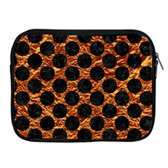 Circles2 Black Marble & Copper Foil (r) Apple Ipad 2/3/4 Zipper Cases by trendistuff
