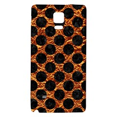 Circles2 Black Marble & Copper Foil (r) Galaxy Note 4 Back Case by trendistuff