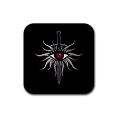 Inquisition Symbol Rubber Square Coaster (4 Pack)  by Valentinaart