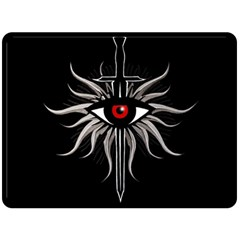 Inquisition Symbol Double Sided Fleece Blanket (large)  by Valentinaart