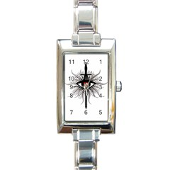 Inquisition Symbol Rectangle Italian Charm Watch by Valentinaart