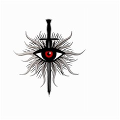 Inquisition Symbol Large Garden Flag (two Sides) by Valentinaart