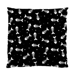 Fish Bones Pattern Standard Cushion Case (two Sides) by Valentinaart