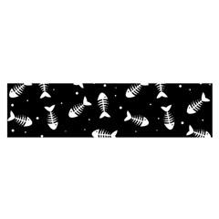 Fish Bones Pattern Satin Scarf (oblong) by Valentinaart
