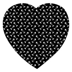 Fish Bones Pattern Jigsaw Puzzle (heart) by Valentinaart