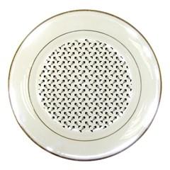 Fish Bones Pattern Porcelain Plates by Valentinaart