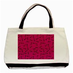 Fish Bones Pattern Basic Tote Bag by ValentinaDesign