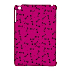 Fish Bones Pattern Apple Ipad Mini Hardshell Case (compatible With Smart Cover) by ValentinaDesign