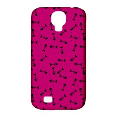 Fish Bones Pattern Samsung Galaxy S4 Classic Hardshell Case (pc+silicone) by ValentinaDesign