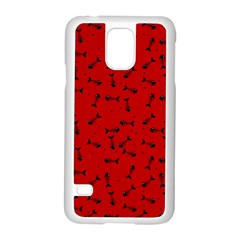 Fish Bones Pattern Samsung Galaxy S5 Case (white) by ValentinaDesign