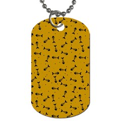 Fish Bones Pattern Dog Tag (two Sides) by ValentinaDesign