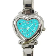 Fish Bones Pattern Heart Italian Charm Watch by ValentinaDesign
