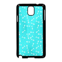 Fish Bones Pattern Samsung Galaxy Note 3 Neo Hardshell Case (black) by ValentinaDesign