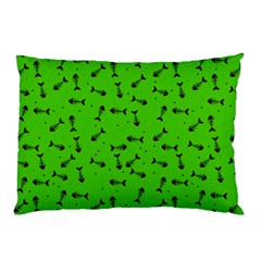 Fish Bones Pattern Pillow Case by ValentinaDesign