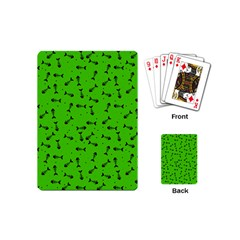 Fish Bones Pattern Playing Cards (mini)  by ValentinaDesign